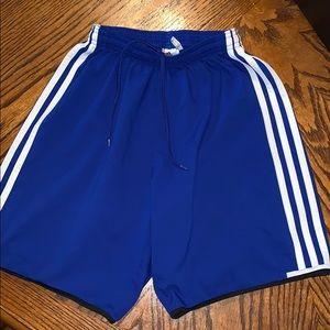 Men's Adidas Climalite Blue Soccer Shorts XS ⚽️